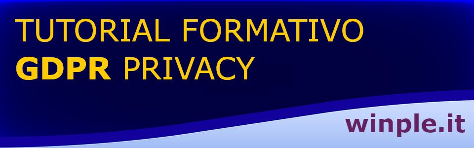 Banner formazione privacy